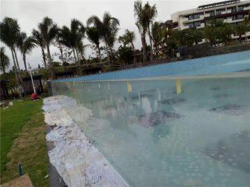 op maat gesneden outdoor acryl zwembadpanelen